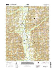 Lower Marlboro Maryland Current topographic map, 1:24000 scale, 7.5 X 7.5 Minute, Year 2016 from Maryland Maps Store