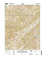 Manchester Maryland Current topographic map, 1:24000 scale, 7.5 X 7.5 Minute, Year 2016 from Maryland Map Store