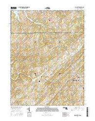 Manchester Maryland Current topographic map, 1:24000 scale, 7.5 X 7.5 Minute, Year 2016