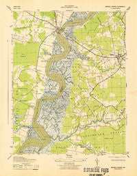 Mardela Springs Maryland Historical topographic map, 1:31680 scale, 7.5 X 7.5 Minute, Year 1943