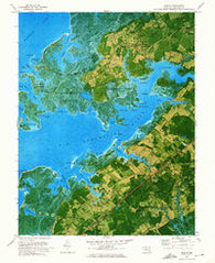 Marion Maryland Historical topographic map, 1:24000 scale, 7.5 X 7.5 Minute, Year 1972