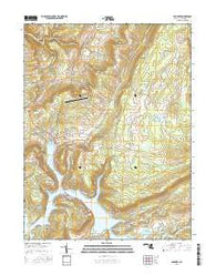 McHenry Maryland Current topographic map, 1:24000 scale, 7.5 X 7.5 Minute, Year 2016