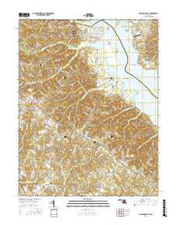 Mechanicsville Maryland Current topographic map, 1:24000 scale, 7.5 X 7.5 Minute, Year 2016