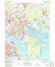 Middle River Maryland Historical topographic map, 1:24000 scale, 7.5 X 7.5 Minute, Year 1969