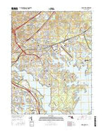 Middle River Maryland Current topographic map, 1:24000 scale, 7.5 X 7.5 Minute, Year 2016 from Maryland Map Store