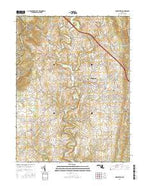 Middletown Maryland Current topographic map, 1:24000 scale, 7.5 X 7.5 Minute, Year 2016 from Maryland Map Store