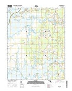 Monie Maryland Current topographic map, 1:24000 scale, 7.5 X 7.5 Minute, Year 2016 from Maryland Map Store