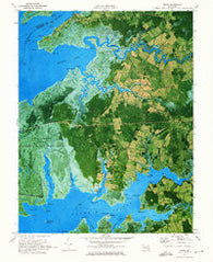 Monie Maryland Historical topographic map, 1:24000 scale, 7.5 X 7.5 Minute, Year 1972