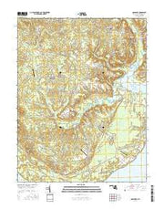 Nanjemoy Maryland Current topographic map, 1:24000 scale, 7.5 X 7.5 Minute, Year 2016 from Maryland Maps Store