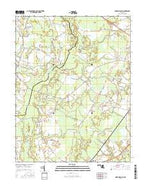 Ninepin Branch Maryland Current topographic map, 1:24000 scale, 7.5 X 7.5 Minute, Year 2016 from Maryland Map Store