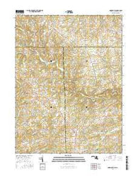 Norrisville Maryland Current topographic map, 1:24000 scale, 7.5 X 7.5 Minute, Year 2016