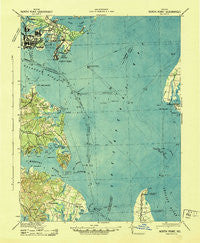 North Point Maryland Historical topographic map, 1:62500 scale, 15 X 15 Minute, Year 1943