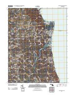 North Beach Maryland Historical topographic map, 1:24000 scale, 7.5 X 7.5 Minute, Year 2011