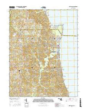North Beach Maryland Current topographic map, 1:24000 scale, 7.5 X 7.5 Minute, Year 2016 from Maryland Maps Store