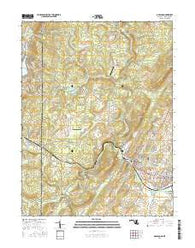 Oakland Maryland Current topographic map, 1:24000 scale, 7.5 X 7.5 Minute, Year 2016