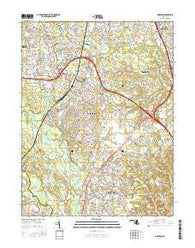 Odenton Maryland Current topographic map, 1:24000 scale, 7.5 X 7.5 Minute, Year 2016