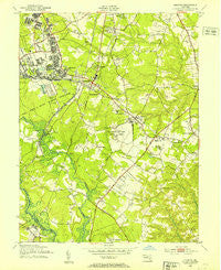 Odenton Maryland Historical topographic map, 1:24000 scale, 7.5 X 7.5 Minute, Year 1949