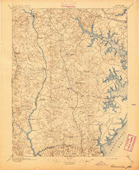 Owensville Maryland Historical topographic map, 1:62500 scale, 15 X 15 Minute, Year 1895