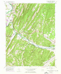 Patterson Creek West Virginia Historical topographic map, 1:24000 scale, 7.5 X 7.5 Minute, Year 1949