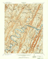 Paw Paw West Virginia Historical topographic map, 1:62500 scale, 15 X 15 Minute, Year 1898