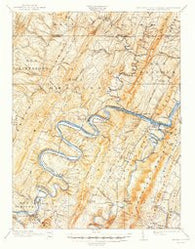 Paw Paw West Virginia Historical topographic map, 1:62500 scale, 15 X 15 Minute, Year 1900