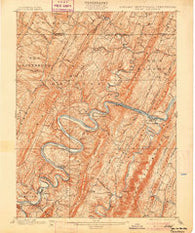 Pawpaw West Virginia Historical topographic map, 1:62500 scale, 15 X 15 Minute, Year 1900