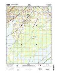 Perryman Maryland Current topographic map, 1:24000 scale, 7.5 X 7.5 Minute, Year 2016