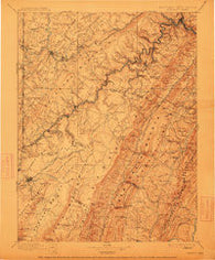 Piedmont West Virginia Historical topographic map, 1:125000 scale, 30 X 30 Minute, Year 1895