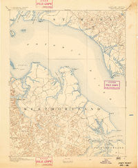 Piney Point Maryland Historical topographic map, 1:62500 scale, 15 X 15 Minute, Year 1894