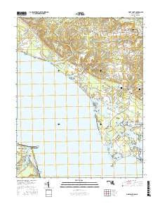 Piney Point Maryland Current topographic map, 1:24000 scale, 7.5 X 7.5 Minute, Year 2016