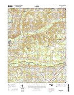 Piscataway Maryland Current topographic map, 1:24000 scale, 7.5 X 7.5 Minute, Year 2016 from Maryland Map Store