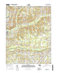 Piscataway Maryland Current topographic map, 1:24000 scale, 7.5 X 7.5 Minute, Year 2016