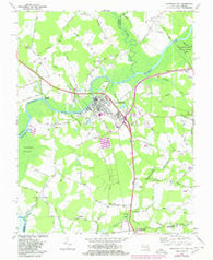 Pocomoke City Maryland Historical topographic map, 1:24000 scale, 7.5 X 7.5 Minute, Year 1968