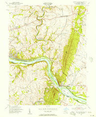 Point Of Rocks Maryland Historical topographic map, 1:24000 scale, 7.5 X 7.5 Minute, Year 1955