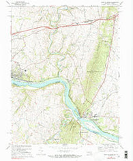 Point Of Rocks Maryland Historical topographic map, 1:24000 scale, 7.5 X 7.5 Minute, Year 1970