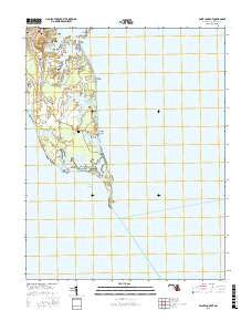 Point Lookout Maryland Current topographic map, 1:24000 scale, 7.5 X 7.5 Minute, Year 2016