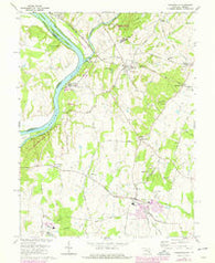 Poolesville Maryland Historical topographic map, 1:24000 scale, 7.5 X 7.5 Minute, Year 1970