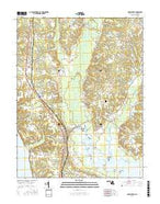 Popes Creek Maryland Current topographic map, 1:24000 scale, 7.5 X 7.5 Minute, Year 2016 from Maryland Map Store