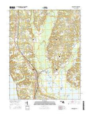Popes Creek Maryland Current topographic map, 1:24000 scale, 7.5 X 7.5 Minute, Year 2016 from Maryland Maps Store