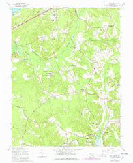 Port Tobacco Maryland Historical topographic map, 1:24000 scale, 7.5 X 7.5 Minute, Year 1966
