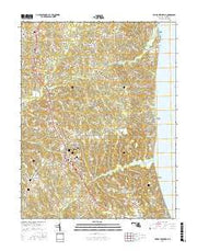 Prince Frederick Maryland Current topographic map, 1:24000 scale, 7.5 X 7.5 Minute, Year 2016 from Maryland Maps Store