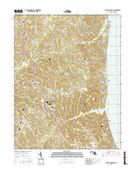 Prince Frederick Maryland Current topographic map, 1:24000 scale, 7.5 X 7.5 Minute, Year 2016