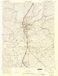 Princess Anne Maryland Historical topographic map, 1:24000 scale, 7.5 X 7.5 Minute, Year 1972