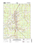 Princess Anne Maryland Current topographic map, 1:24000 scale, 7.5 X 7.5 Minute, Year 2016 from Maryland Map Store