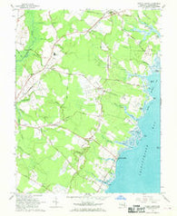 Public Landing Maryland Historical topographic map, 1:24000 scale, 7.5 X 7.5 Minute, Year 1967