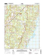 Public Landing Maryland Current topographic map, 1:24000 scale, 7.5 X 7.5 Minute, Year 2016 from Maryland Map Store