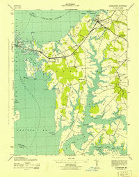 Queenstown Maryland Historical topographic map, 1:31680 scale, 7.5 X 7.5 Minute, Year 1943