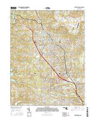 Reisterstown Maryland Current topographic map, 1:24000 scale, 7.5 X 7.5 Minute, Year 2016