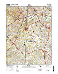 Relay Maryland Current topographic map, 1:24000 scale, 7.5 X 7.5 Minute, Year 2016