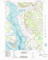Rock Point Maryland Historical topographic map, 1:24000 scale, 7.5 X 7.5 Minute, Year 1943